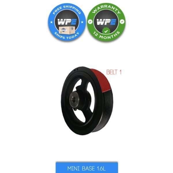 mini cooper base 1.6 R50 R52 02 03 04 05 06 07 08 pulley harmonic balancer crankshaft pulley 11237829906 belts