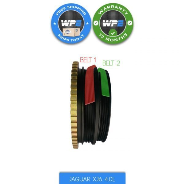jaguar xj6 pulley harmonic balancer 95 96 97 crankshaft pulley EBC11491 EBC110833 belts