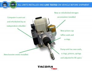 2012 2013 2014 toyota tacoma trd new abs pump and master cylinder motor unit hydraulic brake booster 89541 04081 oem refurbished part number diagram 300x233 2012 2013 2014 toyota tacoma trd new abs pump and master cylinder