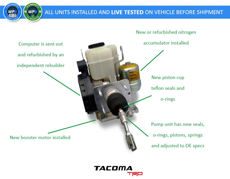 2012 2015 Toyota Tacoma Complete Abs Unit Assembly