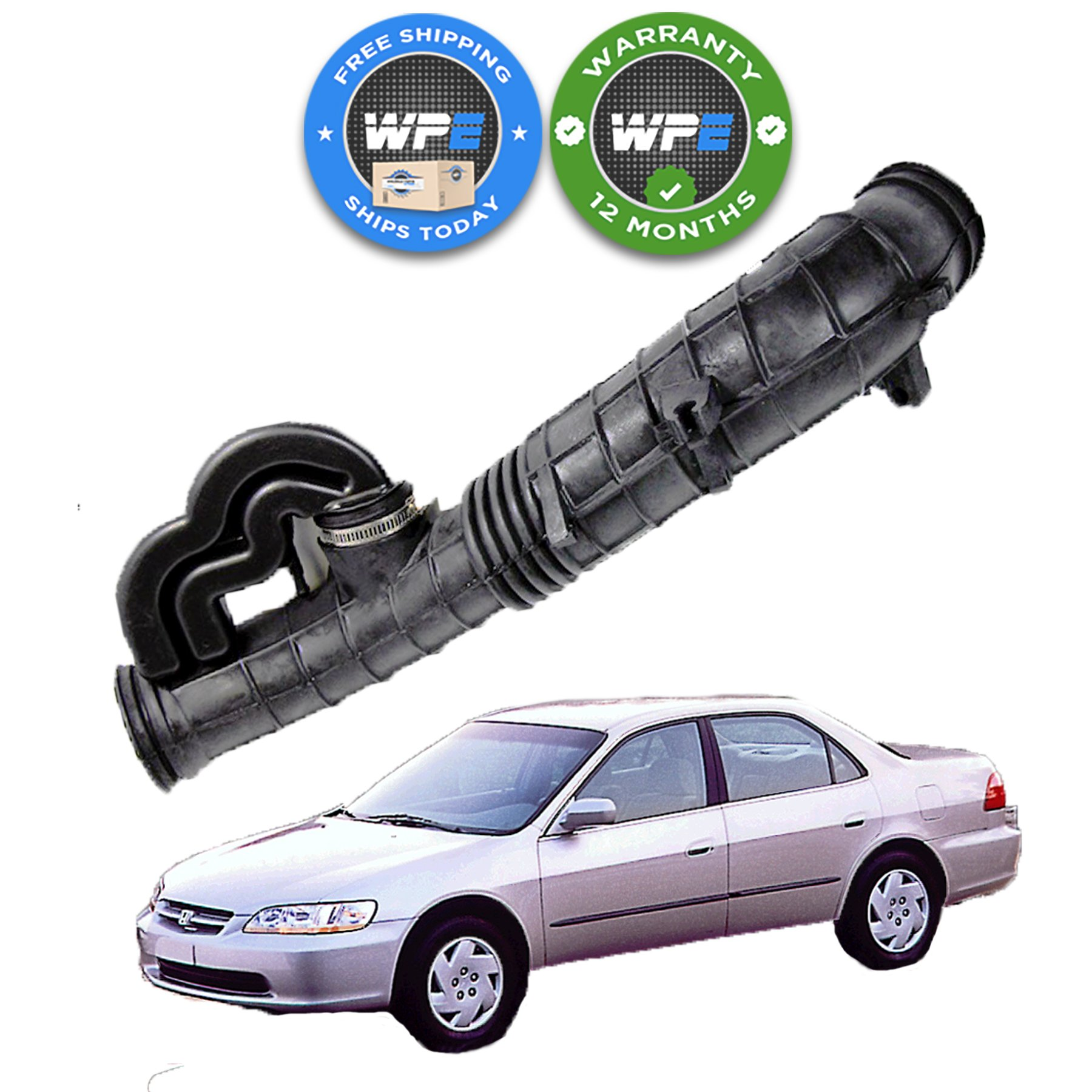 ECCPP Air Intake Hose Fit for 1998-2000 Honda Accord Compatible with 696-034 AIH551072H 17228PAAA00 17228-PAA-A00 Intake Boot Tube