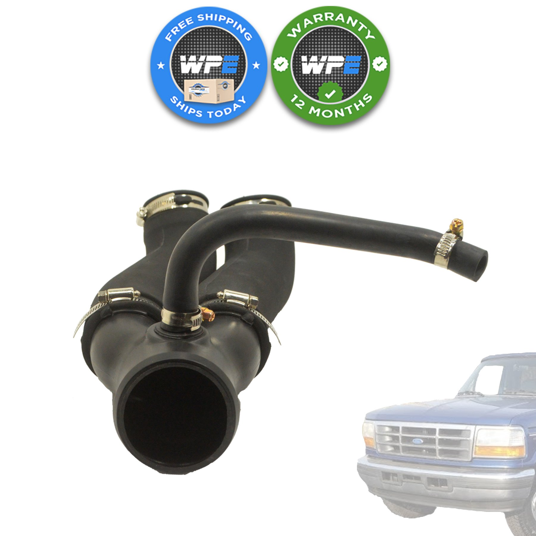 1994 1997 ford bronco intake hose air tube boot f6tz 9b659 ad f6tz9b659ad wholesale parts. Black Bedroom Furniture Sets. Home Design Ideas