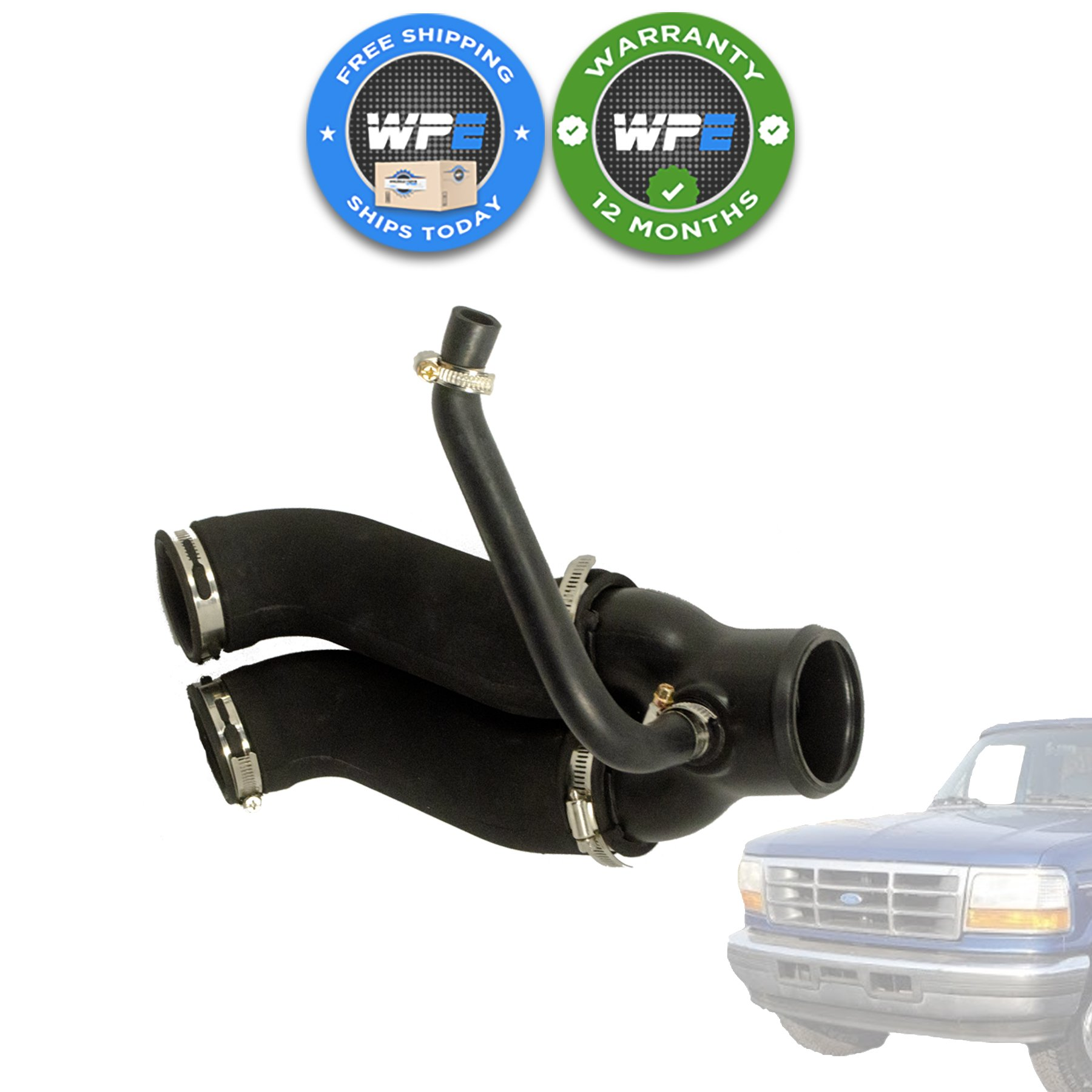 SCITOO F6TZ-9B659-AD Engine Air Intake Hose Fits for 1994 1995 1996 F-ord Bronco 1994 1995 1996 F-ord F-150 1994 1995 1996 1997 F-ord F-250 1994 1995 1996 1997 F-ord F-350
