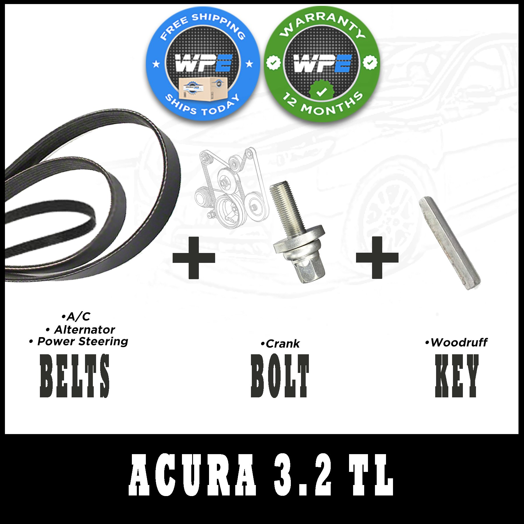 1996-1998 Acura 3.2 TL Harmonic Balancer Replacement Kit